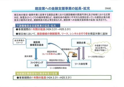 2012年01月12日建設業への金融支援事業の延長・拡充